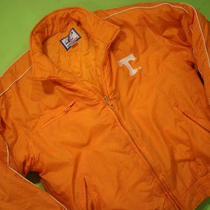 Tennessee Vols Puffer Jacket Coat Sz Large Orange